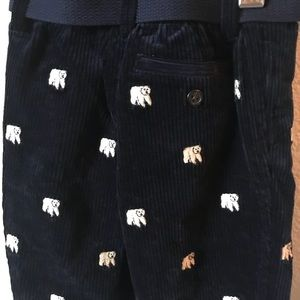 Ralph Lauren Bottoms - Ralph Lauren Polar Bear Corduroy Pants Child's 9M